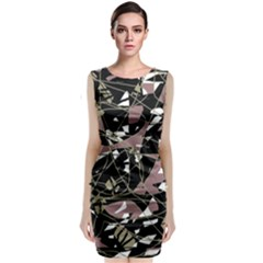 Artistic abstract pattern Classic Sleeveless Midi Dress