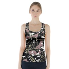 Artistic abstract pattern Racer Back Sports Top