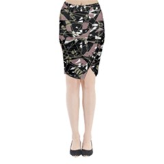 Artistic abstract pattern Midi Wrap Pencil Skirt