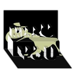 Kangaroo Miss You 3D Greeting Card (7x5)