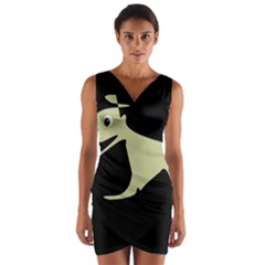 Kangaroo Wrap Front Bodycon Dress
