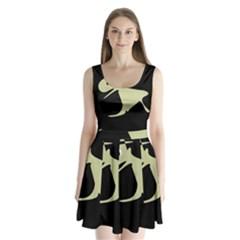 Kangaroo Split Back Mini Dress