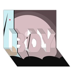 Abstract design BOY 3D Greeting Card (7x5)