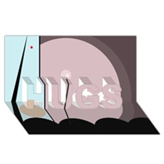 Abstract design HUGS 3D Greeting Card (8x4)