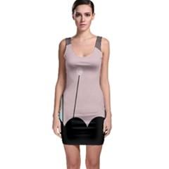 Abstract design Sleeveless Bodycon Dress