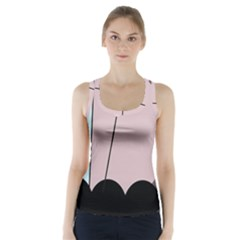 Abstract design Racer Back Sports Top