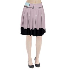 Abstract design Pleated Skirt