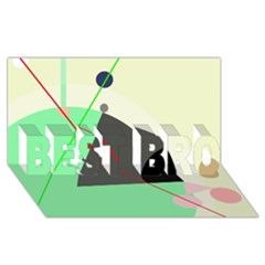 Decorative abstract design BEST BRO 3D Greeting Card (8x4)