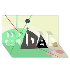 Decorative abstract design #1 DAD 3D Greeting Card (8x4)