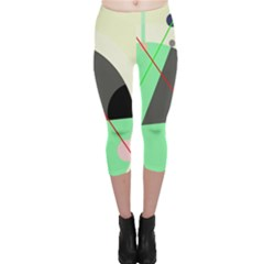 Decorative abstract design Capri Leggings