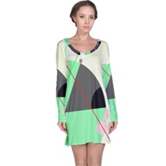Decorative abstract design Long Sleeve Nightdress