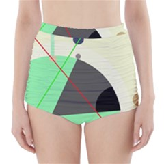 Decorative abstract design High-Waisted Bikini Bottoms