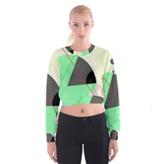 Decorative abstract design Women s Cropped Sweatshirt