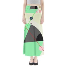 Decorative abstract design Maxi Skirts