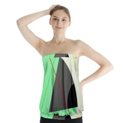 Decorative abstract design Strapless Top