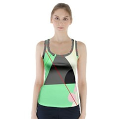 Decorative abstract design Racer Back Sports Top