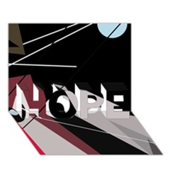 Artistic Abstraction Hope 3d Greeting Card (7x5)
