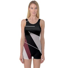 Artistic abstraction One Piece Boyleg Swimsuit