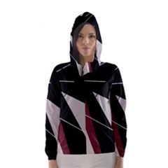 Artistic abstraction Hooded Wind Breaker (Women)