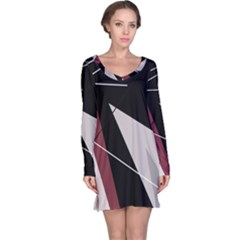 Artistic abstraction Long Sleeve Nightdress