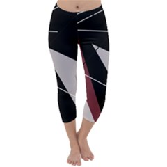 Artistic abstraction Capri Winter Leggings
