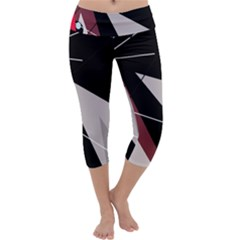 Artistic abstraction Capri Yoga Leggings