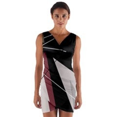 Artistic abstraction Wrap Front Bodycon Dress