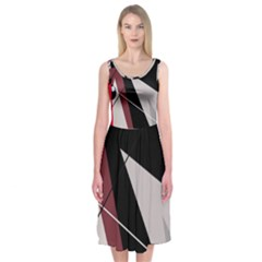 Artistic abstraction Midi Sleeveless Dress