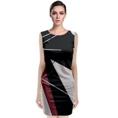 Artistic abstraction Classic Sleeveless Midi Dress