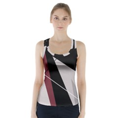 Artistic abstraction Racer Back Sports Top