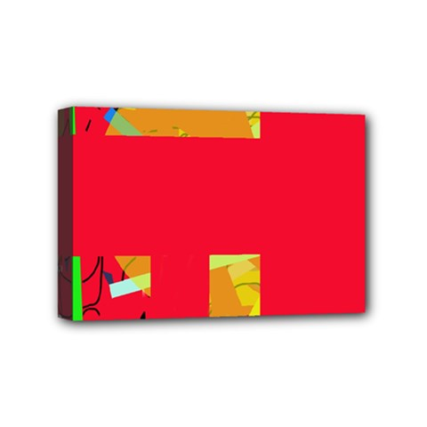 Red abstraction Mini Canvas 6  x 4