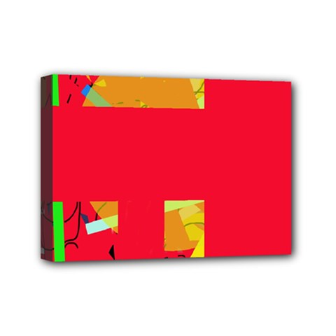 Red abstraction Mini Canvas 7  x 5