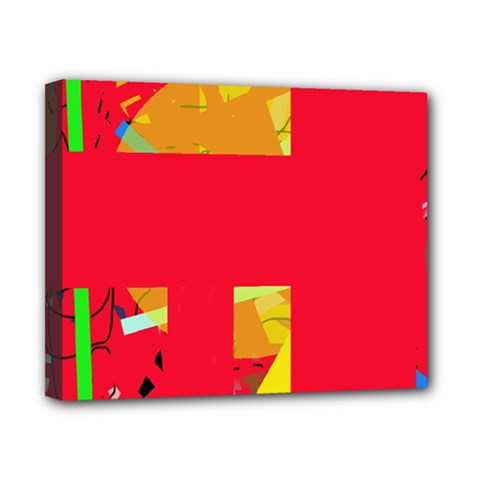Red abstraction Canvas 10  x 8