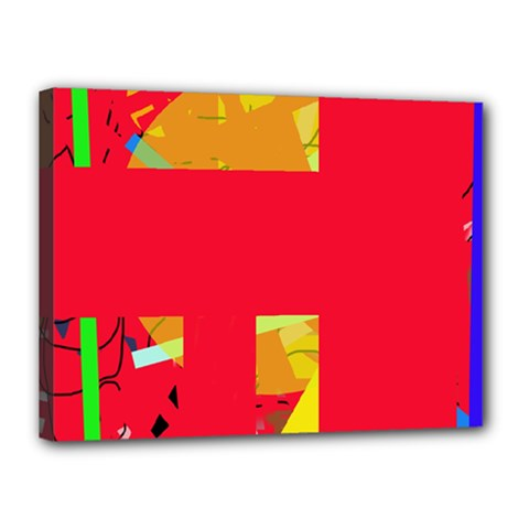 Red abstraction Canvas 16  x 12