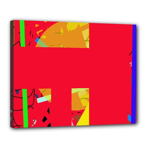 Red abstraction Canvas 20  x 16