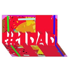 Red abstraction #1 DAD 3D Greeting Card (8x4)