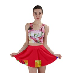 Red abstraction Mini Skirt