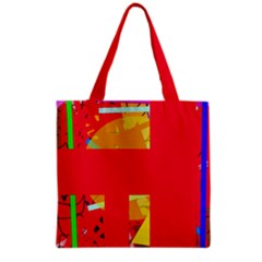 Red abstraction Grocery Tote Bag