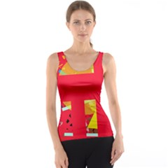 Red abstraction Tank Top