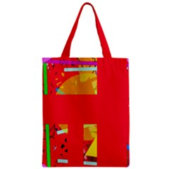 Red abstraction Zipper Classic Tote Bag