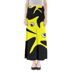 Yellow amoeba Maxi Skirts