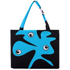 Blue amoeba Mini Tote Bag
