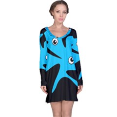 Blue Amoeba Long Sleeve Nightdress