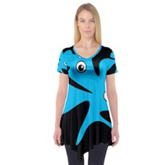 Blue amoeba Short Sleeve Tunic