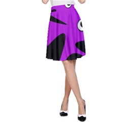 Purple amoeba A-Line Skirt