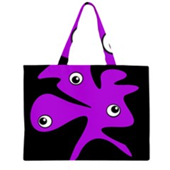 Purple amoeba Large Tote Bag