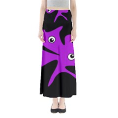 Purple amoeba Maxi Skirts