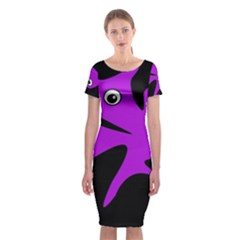 Purple amoeba Classic Short Sleeve Midi Dress