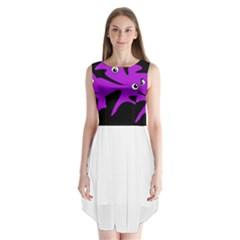 Purple amoeba Sleeveless Chiffon Dress