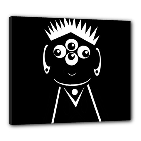 Black and white voodoo man Canvas 24  x 20